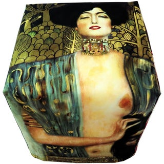ArtHouse Innovations Gustav Klimt Cube 18x18 Ottoman Box
