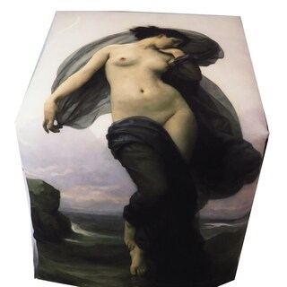 ArtHouse Innovations Adolphe William Bouguereau Nude Paintings Cube 18x18 Ottoman Box
