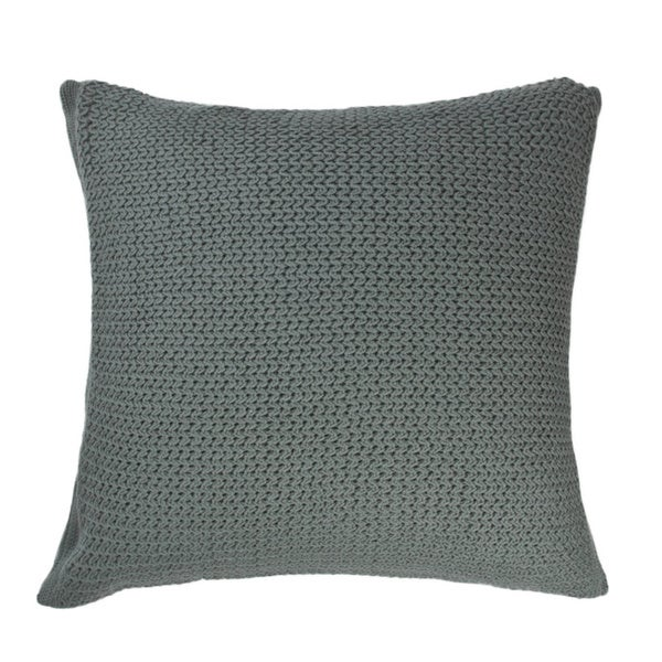 Drake Teal Knitted PIllow
