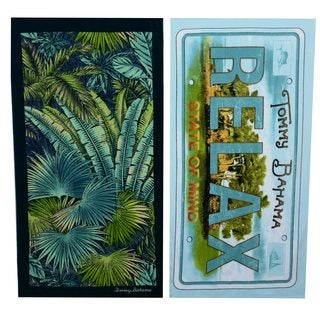 Tommy Bahama Leaves and Relaxed State Beach Towel Set