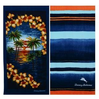 Tommy Bahama Bahama Stripe and Island Vignette Beach Towel Set