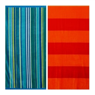 Tommy Bahama Banana Bay and Ocean Stripe Beach Towel Set