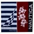 Nautica Hibiscus Red and J Class Border Beach Towel Set