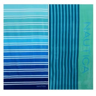 Nautica Colorblock Stripe and Ombre Stripe Beach Towel Set
