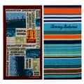 Tommy Bahama Paddleboard and Pirates Bay Stripe Beach Towel set