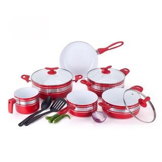 Two-tone 11-piece Ceramic Non-stick Cookware Set