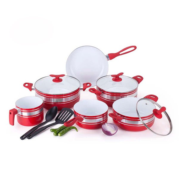 Two-tone 11-piece Ceramic Non-stick Cookware Set