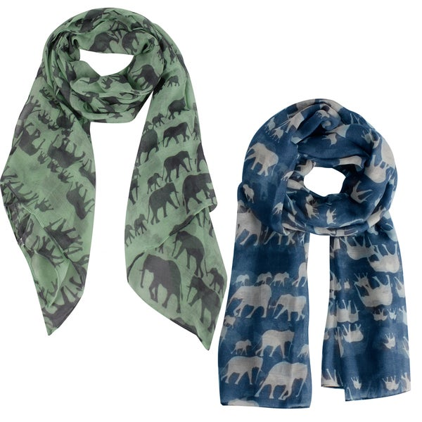 Peach Couture Chic Animal Print Elephant Scarf (2 Pack)