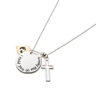 Faithful Heart Footprints Necklace