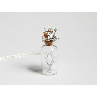I Carry Your Heart Message in a Bottle Necklace