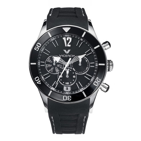 Viceroy Mens 42110-55 Black Rubber Watch