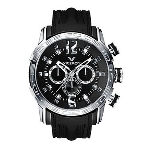 Viceroy Mens 42119-55 Black Rubber Watch