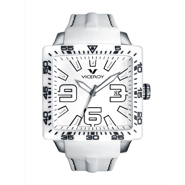 Viceroy Mens 432099-05 White Rubber Watch