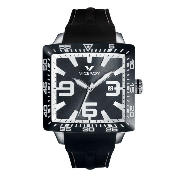 Viceroy Mens 432099-55 Black Rubber Watch
