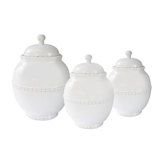 Bianca Dotted White 3 PC Canisters