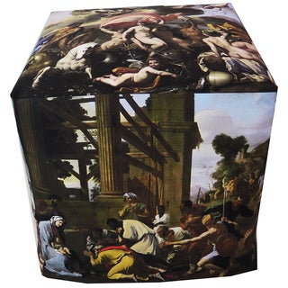 ArtHouse Innovations Nicolas Poussin Paintings Cube 18x18 Ottoman Box