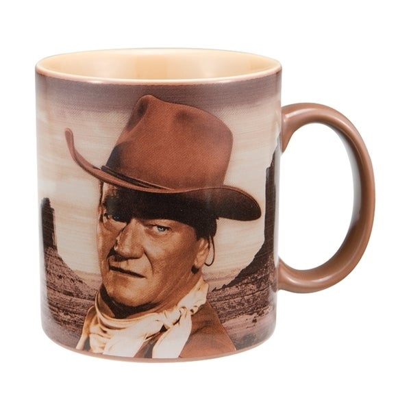 "John Wayne ""A Mans Gotta Do"" 12oz Ceramic Coffee Mug"