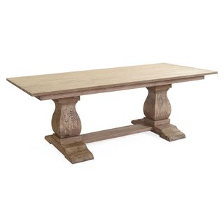 The Salem Trestle Solid Wood Dining Table