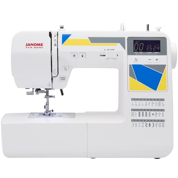 Janome MOD-30 Computerized Sewing Machine with 30 Built-In Stitches, 3 One-Step Buttonholes, Drop Feed, and Accessories