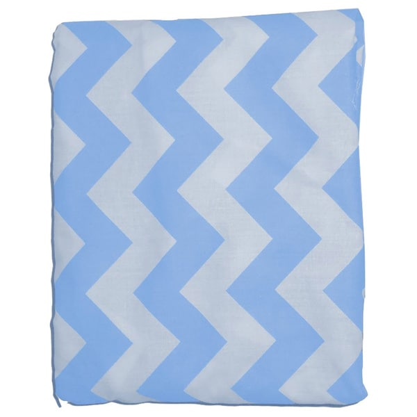 Chevron Portable Cotton Crib Sheet