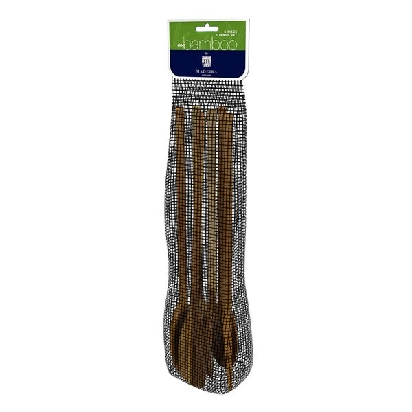 Madeira BM-06 6-Piece Eco Bamboo Utensil Set
