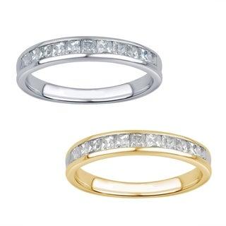 10k White Gold 1/2ct TDW 11-stone Princess Diamond Wedding Band (I-J, I2-I3)