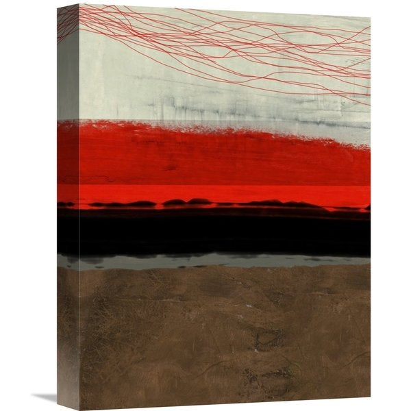 Naxart Studio 'Abstract Stripe Theme Brown' Stretched Canvas Wall Art
