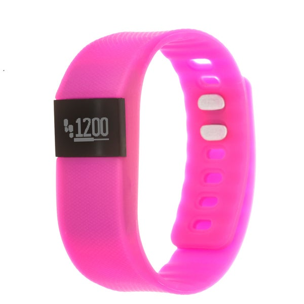 Zunammy Pink Activity Tracker Watch with Call and Message Reminders