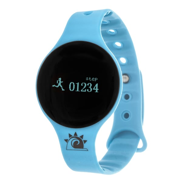 Blue Zunammy Slim Round Activity-Tracker Watch with Tap-Screen Display