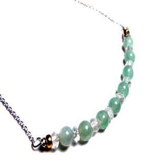 Aquamarine Bar Chain Necklace