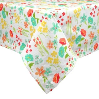 April Flowers Print Tablecloth