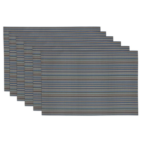 Tango Red Micro Stripe Placemats (Set of 6)