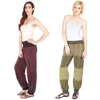 Patchwork Stripe Yoga Pants (Nepal)