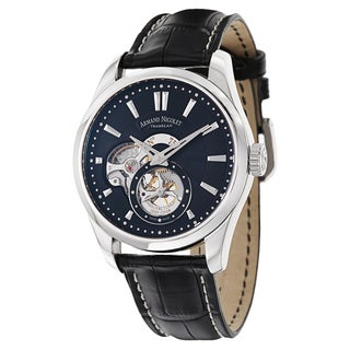 Armand Nicolet Men's A130AAA-NR-P713NR2 Leather Watch