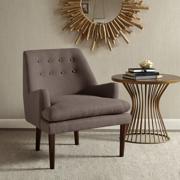 Madison Park Elsa Mid-Century Accent Chair--Grey