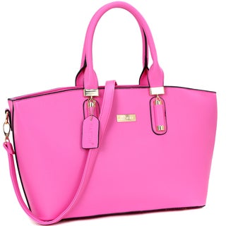 Dasein Fashion Faux Leather Work Tote Bag