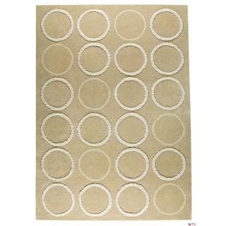 M.A.Trading Indian Hand-tufted Bilbao Beige Rug (6'6 x 9'9)