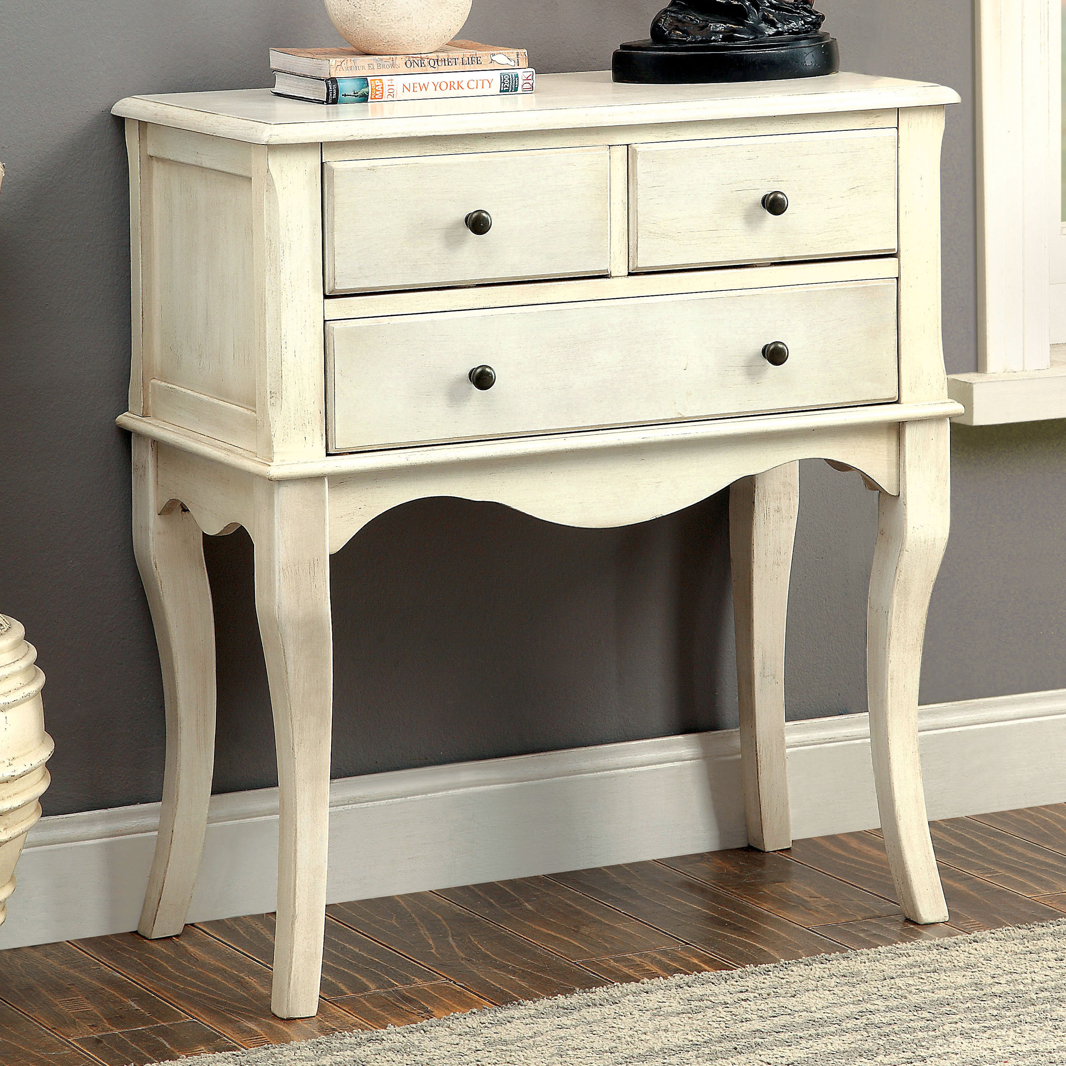 Furniture of America Eloisa Vintage Style 3drawer Hallway Table