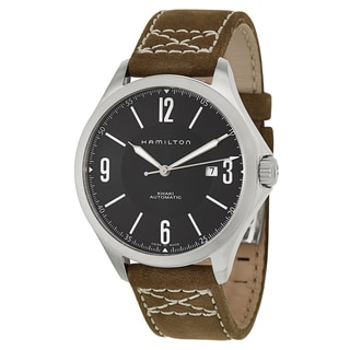 Hamilton Men's H76665835 Leather Watch