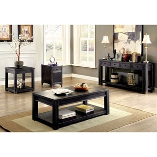 Furniture of America Cosbin Bold 4-piece Antique Black Accent Table Set