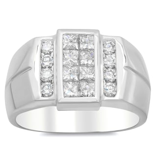Artistry Collections 14k White Gold Men's 1 3/5ct TDW Diamond Ring (E-F, VS1-VS2)