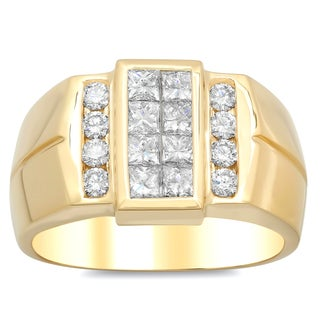 Artistry Collections 14k Yellow Gold Men's 1 3/5ct TDW Diamond Ring (E-F, VS1-VS2)