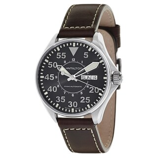 Hamilton Men's H64425535 Leather Watch