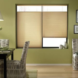 Leaf Gold 26 to 26.5-inch Wide Cordless Top Down Bottom Up Cellular Shades