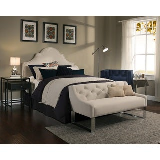 Republic Design House Portman Ivory Upholstered Headboard-Tufted Sofa Bench Collection
