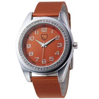 Picard and Cie Women's Orange Metal Mesh Bracelet Mercia Watch
