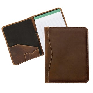 Executive Distressed Leather Meeting Organizer