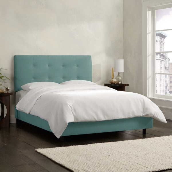 Skyline Furniture Caribbean Velvet Tufted Bed