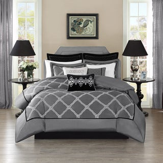Bombay Oversized Luxury Teramo Grey Comforter Set