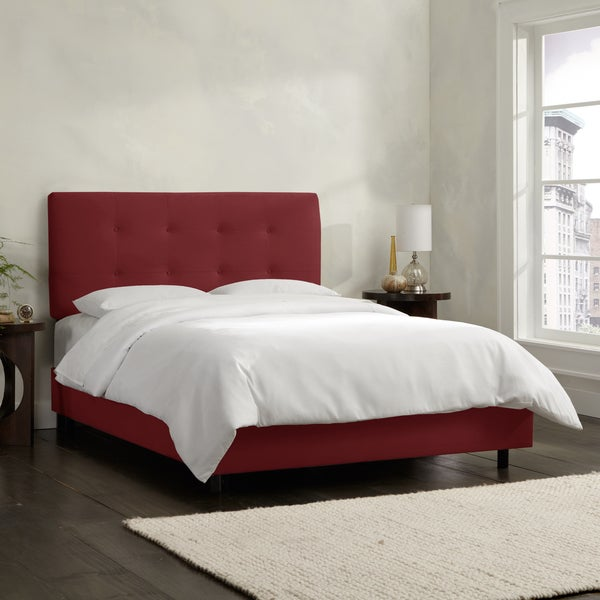 Skyline Furniture Berry Velvet Tufted Bed